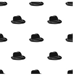 Panama hat icon in black style isolated on white vector