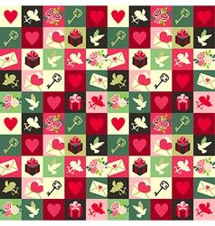 pattern Valentine vector image