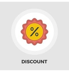 Percent label icon flat vector
