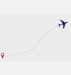 plane track vector image