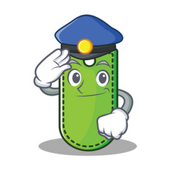 police price tag character cartoon vector image