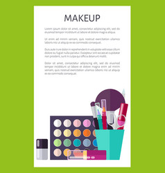 Professional makeup cosmetics promotional poster vector