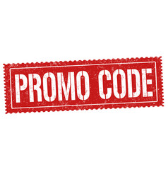 promo code sign or stamp vector image