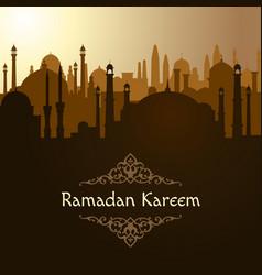 ramadan arabic mosque background islam vector image