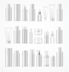 Realistic template blank white big cosmetic vector