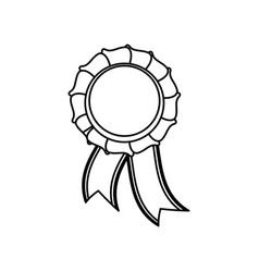Ribbon award symbol vector