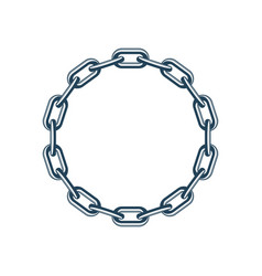 round chain vector image