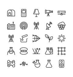 science and technology line icons 14 vector image