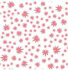 seamless texture marijuana three vector image