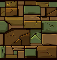 seamless texture of old geometric stone vector image
