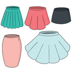 Set of skirt vector