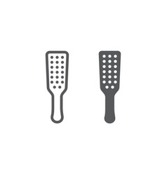 Sex spanking paddle line and glyph icon sex toy vector