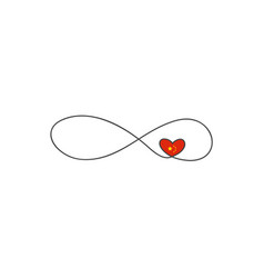 sign infinity and heart and and and hinese flag vector image