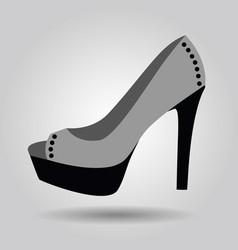 single women platform high heel studded shoe icon vector image