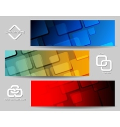 Square Banner Set vector image