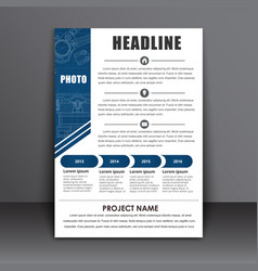 Template a4 flyer the design of the technical vector