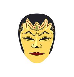 Traditional mask originating from malang vector