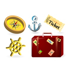 Travel items vector image