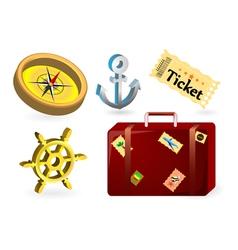 Travel items vector
