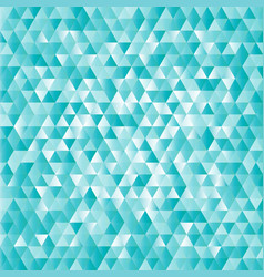 Turquoise abstract triangles background vector