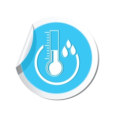 Weather forecast thermometer icon vector image