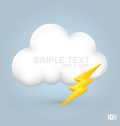 white cloud with lightning vector image