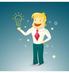 Businessman enjoys a new idea vector image
