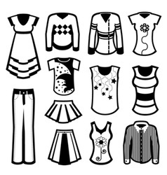 clothes design vector image vector image