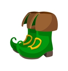 Green leprechaun boots cartoon icon vector image vector image