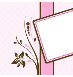 greeting card template vector image vector image