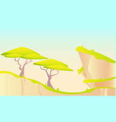 hot african landscape vector image