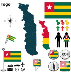 Togo map vector image vector image