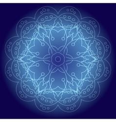Abstract glowing mandala vector image vector image