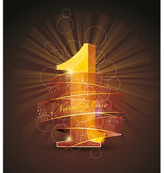 best quality original product number one vector image vector image