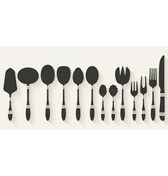 cutlery tableware set vector image