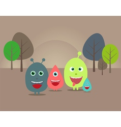 funny aliens and monsters vector image vector image