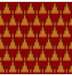 Knitted Wool Background vector image