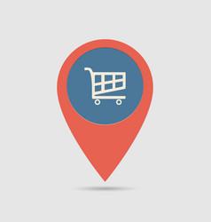 map pin supermarket vector image
