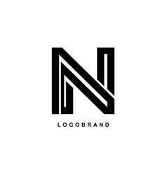 n logo simple elegant n monogram vector image