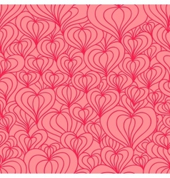 Red stylized hearts seamless vector image vector image