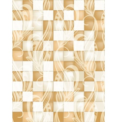 seamless tile pattern with floral ornament vector image vector image