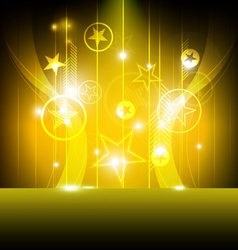 shiny star with yellow background vector image