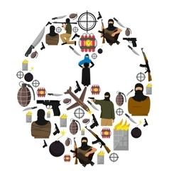 Terrorism Flat Composition vector image
