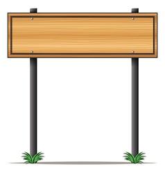 A rectangular wooden signboard vector image