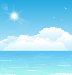 Clouds on water vector image vector image