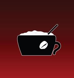 coffe in cup color vector image