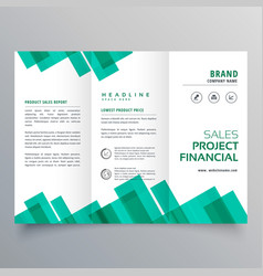 elegant geometric business brochure design vector image vector image