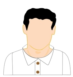 Man in white shirt vector image