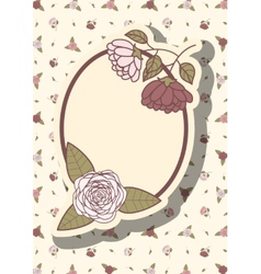 Retro frame with abstract flowers event design vector image vector image