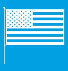 american flag icon white vector image
